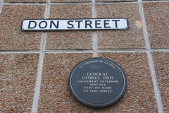 Photo of George Don grey plaque