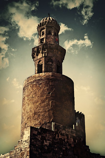 The spiral minaret of Ibn Tulun Mosque.