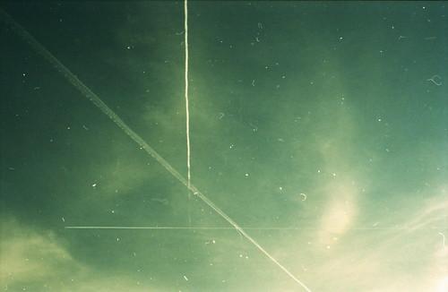 無料写真素材, 自然風景, 空, 飛行機雲
