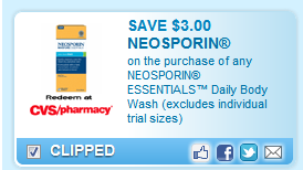 Neosporin Essentials Daily Body Wash (excludes Individual Trial Sizes)  Coupon