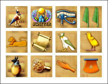 free Secrets of Horus slot game symbols
