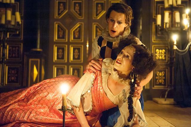 Susanna Hurrell and Samuel Boden in L'Ormindo © Stephen Cummiskey