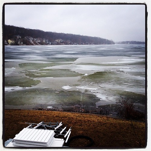 Sheets of ice shifting, moving, crashing together on the lake today.