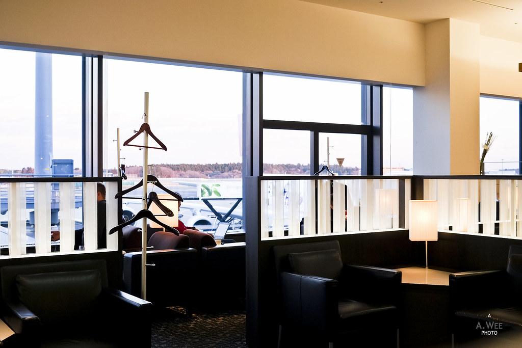 Coat hangers in the lounge