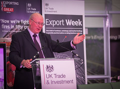 David Coppock speaks at an Export Week event