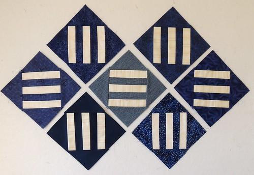 7 Diagonal Bars Blocks