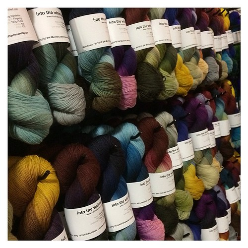 Just a few of the skeins on display at the Maryland Sheep & Wool Festival. Find us in the Main Exhibition Hall - Booth B16. #itw #intothewhirled #mdsw