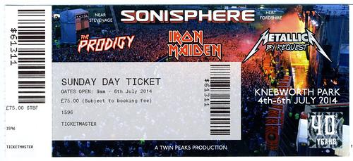 Metallica concert ticket Stock Image
