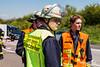 Verkehrsunfall mit umgestürzten Wohnwagen A3 07.05.16
