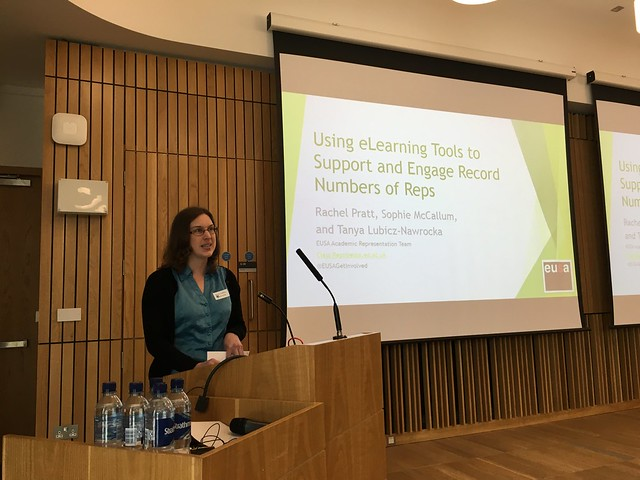 Tanya Lubicz-Nawrocka speaking about EUSA's use of Learn and Open Badges at elearning@ed 2016