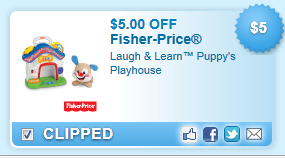 $5.00 Off Fisher-price Laugh & Learn Puppy