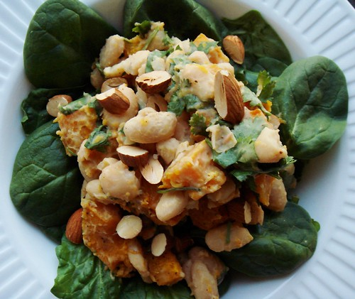 Warm Cannellini Bean Salad with Roasted Butternut Squash