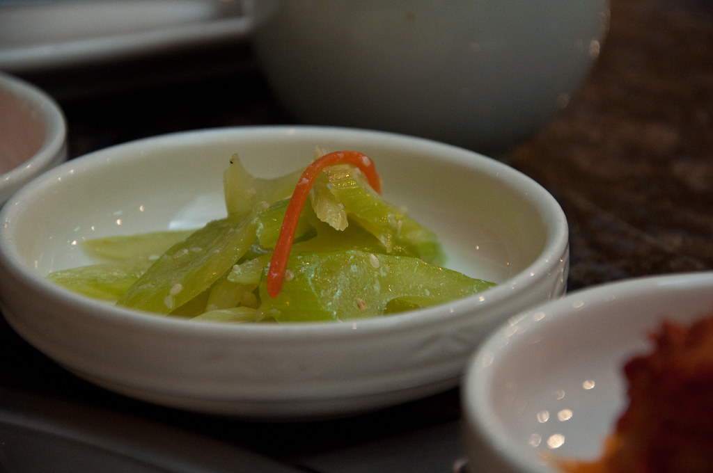Korean Food side dish: Celery ...