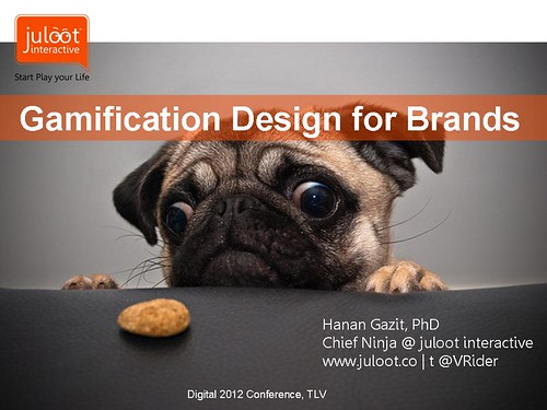 invited lecture: Gamification Design for brands lecture @ Digital2012 Conf TLV