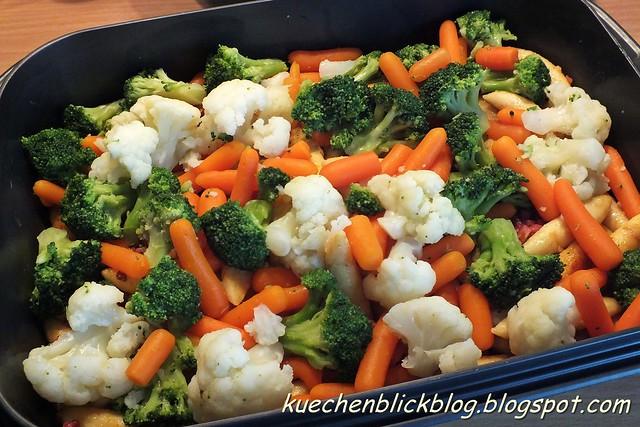 Gemüse Schupfnudel Auflauf