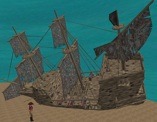 sunken pirate ship 31 prims aquatic sim stuff 001