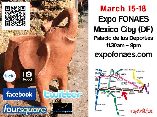 Elephants and other Folk Art in Mexico City 03.2012 #ExpoFONAES2012