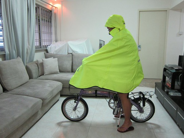 Carradice Pro-Route Rain Cape: On Bike