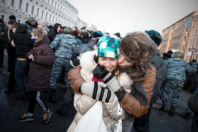 Санкт-Петербург. Митинг на Исаакиевской площади.