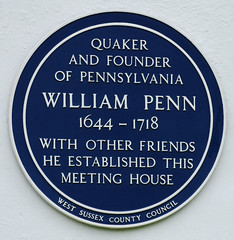 Photo of William Penn blue plaque