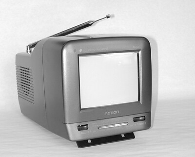 """Action/Thomson 5"""" color tv with radio made in China retailing for $149 at Circuit City"""