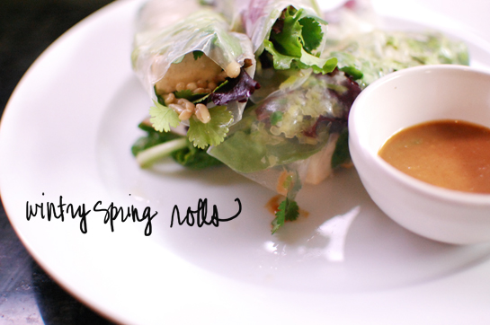 Monday was Wintery Spring Rolls …