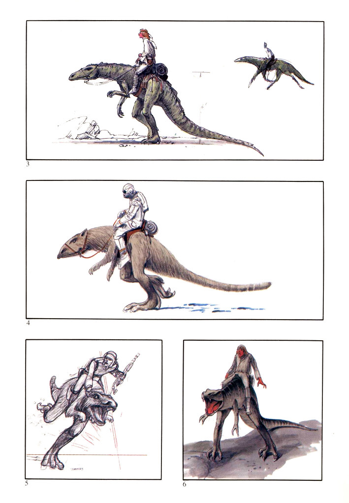 Ralph Mcquarrie - Preliminary drawings for Tauntaun