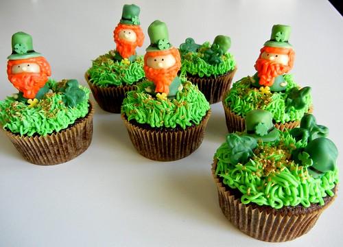 leprachaun cupcakes