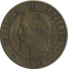 French 10 Centimes obverse
