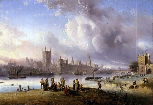 Carlo Bossoli - View of Westminster Palace from Lambeth by Gandalf's Gallery