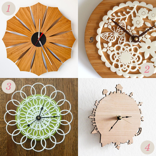 Handmade wall clocks from Etsy | Emma Lamb