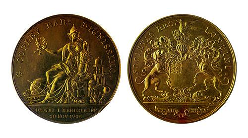 Mendeleev Copley medal