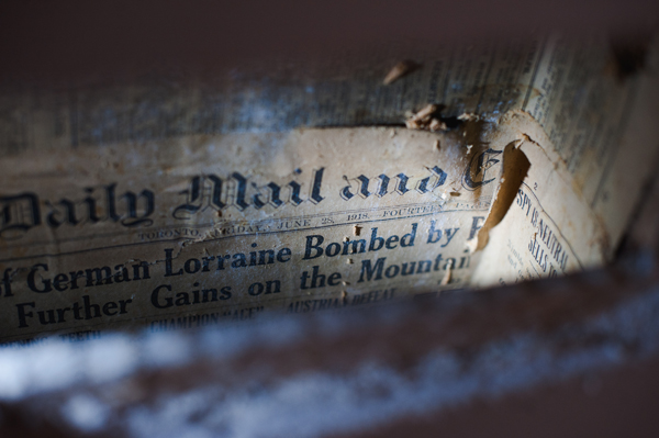 newspaper in the walls