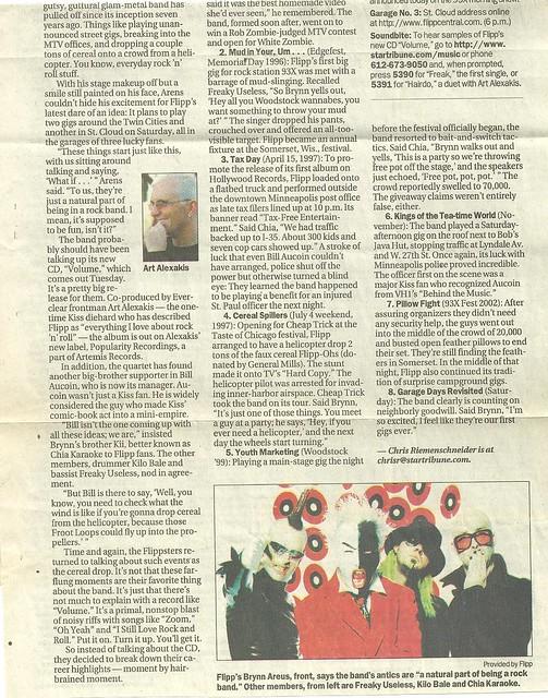08/09/02 Minneapolis Star Tribune (Flipp - 3 Garage Tour - bottom half)