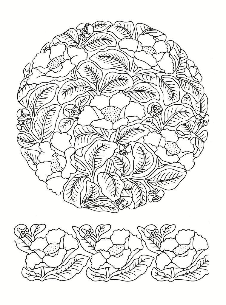 East Asian Designs - leaf roundel