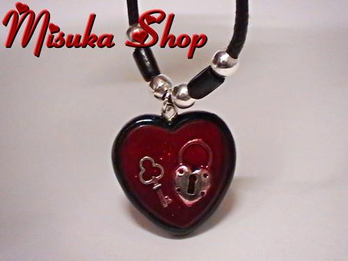 Colgante Resina Heart Love 2 Rojo