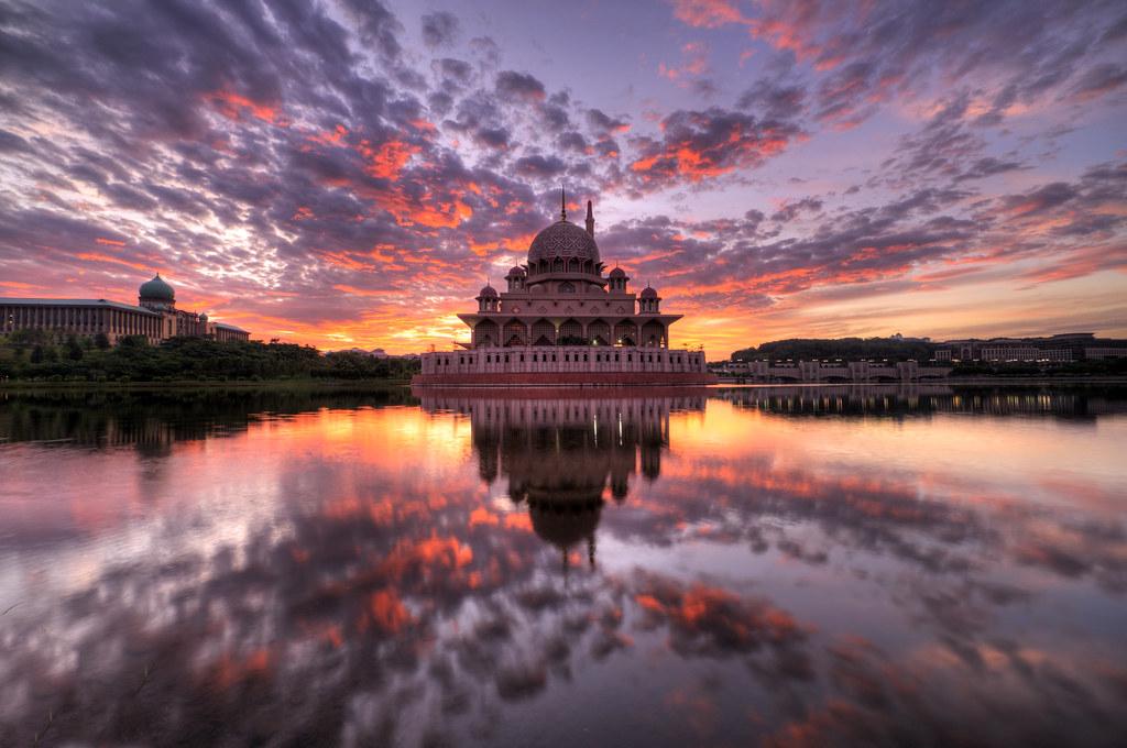 Sunrise at Masjid Putra, Putrajaya