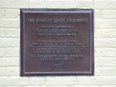 Photo of Emily Dickinson bronze plaque
