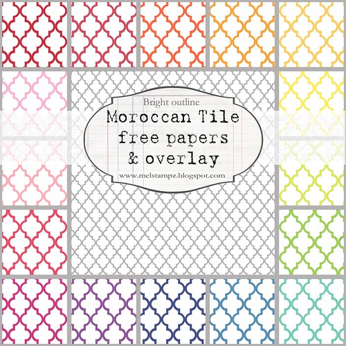PREVIEW Moroccan tile B SMALL SCALE bright OUTLINE
