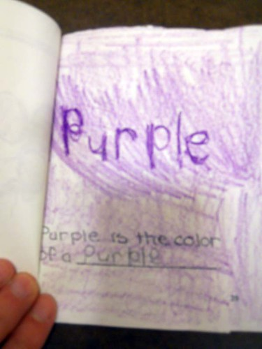 Purple is the color of a purple.