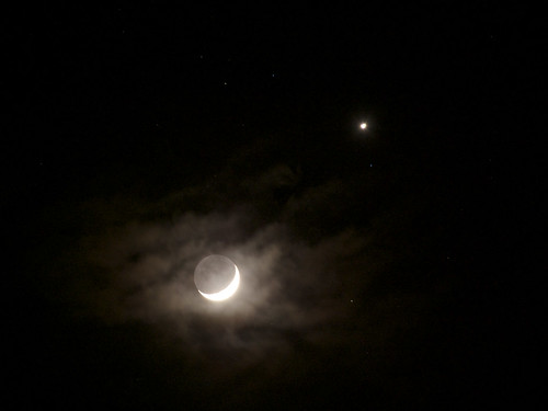 Venus and Moon