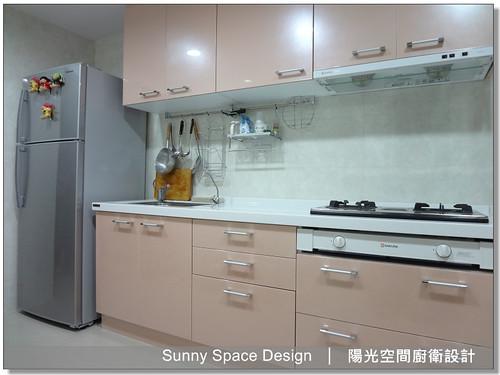廚具工廠-板橋大觀路賴小姐一字型廚具-陽光空 間廚衛設計