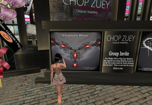 Chop Zuey Gift  - Venetian Wine Necklace by Cherokeeh Asteria