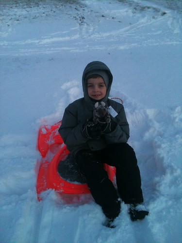 Sledding at Olson Park, Portage, IN