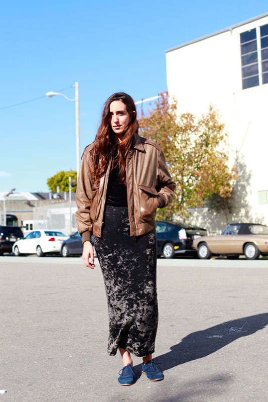 brownleather san francisco street fashion style
