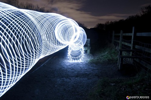 lightpainting led slinky lightart lightdome garethbrooks