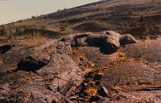 Pahoehoe lava flow, Craters of the Moon National Monument ID