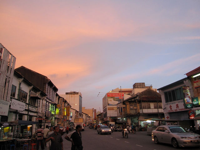 Sun setting in Penang