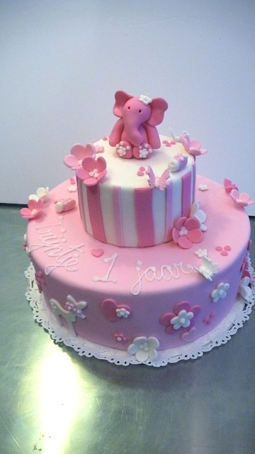 Little girl s 1st Birthday Cake Flickr - Photo Sharing!
