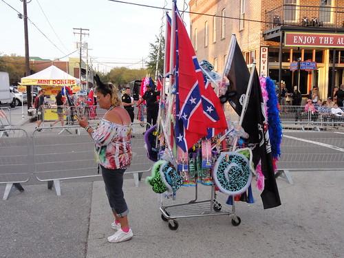Souveneer seller at Ybor Knight parade
